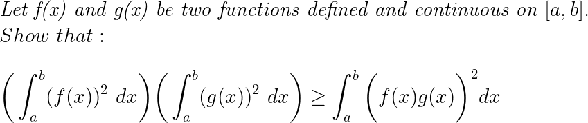 Inequality Between Definite Integrals !